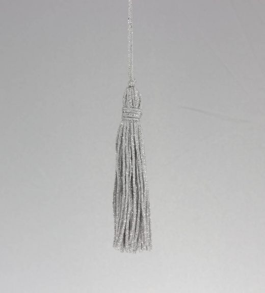 Fiocco abbigliamento cm 10 Argento Lurex web