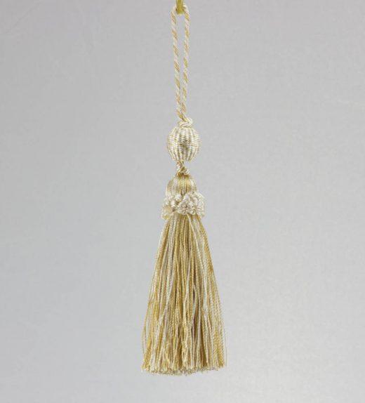 Fiocco con pallina avorio e oro