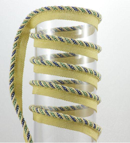 Cordone con aletta blu-verde web